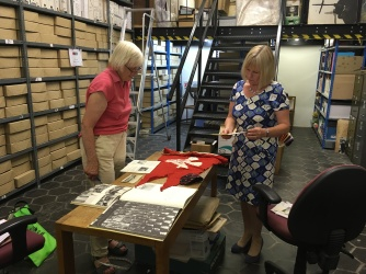 Eve and Cathedral Archivist Dianne Morris