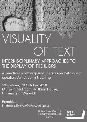 Visuality of Text
