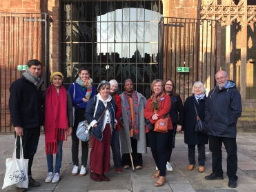 Group at Coventry Cathedral